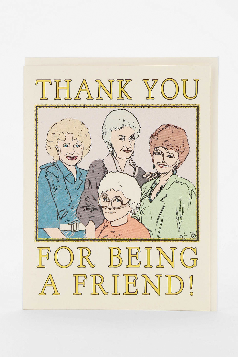 Seas And Peas Golden Girls Thank You Card, Urban Outfitters