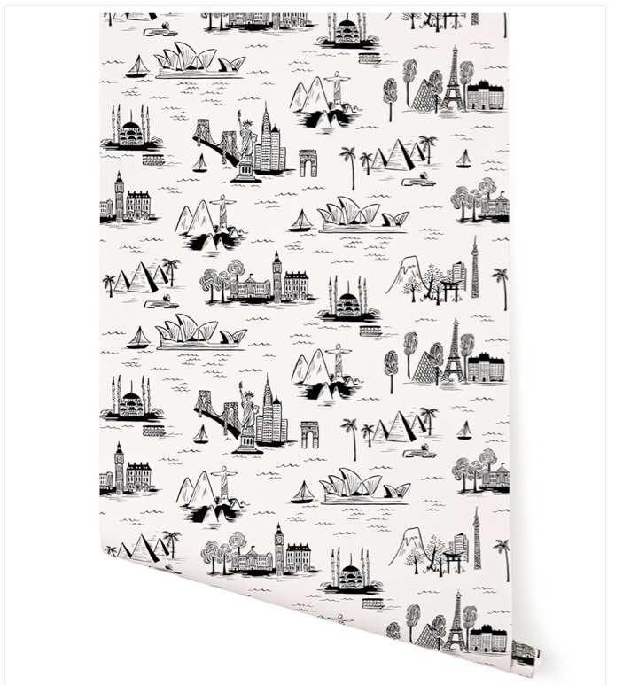 Cities Toile (White) by Rifle Paper Co., Hygge and West