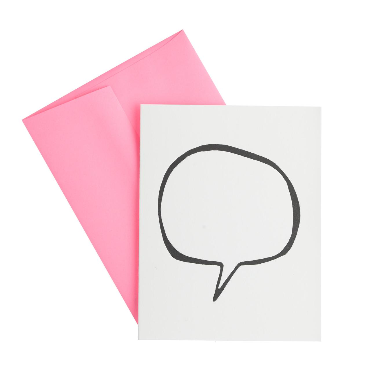 "ASHKAHN ""Thought Bubble"" Greeting Card, J. Crew $8"