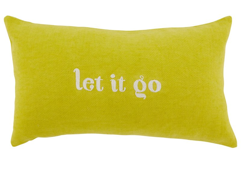 Expressions Pillow – Let It Go Pillow by Indigo (Perfect for forgetting silly fights) $44.50