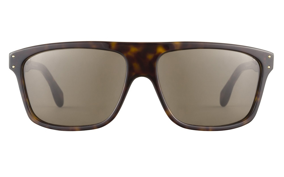 Alexander McQueen in Dark Havana 57, Clearly Contacts $199