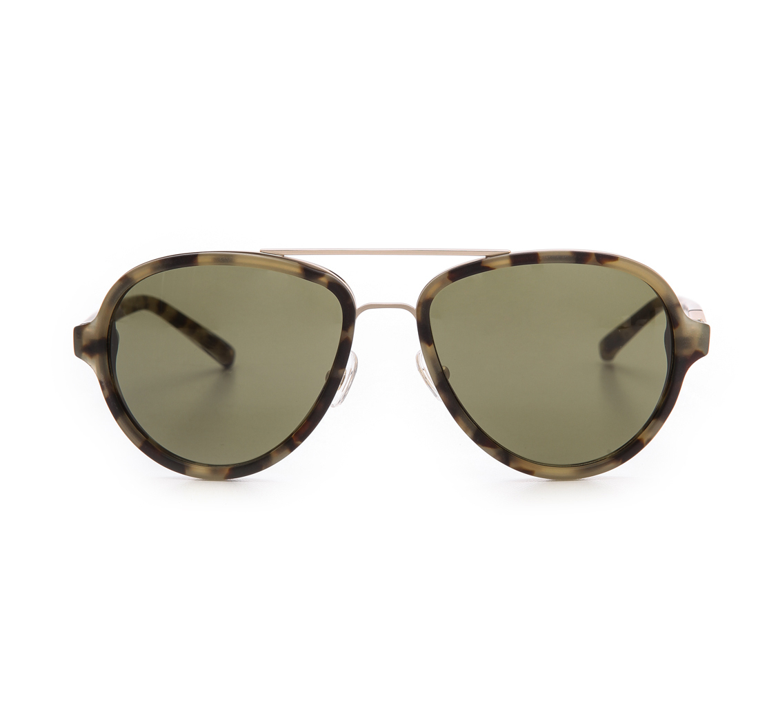 3.1 Phillip Lim Aviator Sunglasses in Frosted Khaki Tortoise, Shopbop $403.48