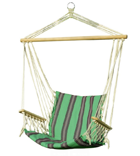Adeco Green Striped Outdoor Hammock Chair, HOUZZ $39.99
