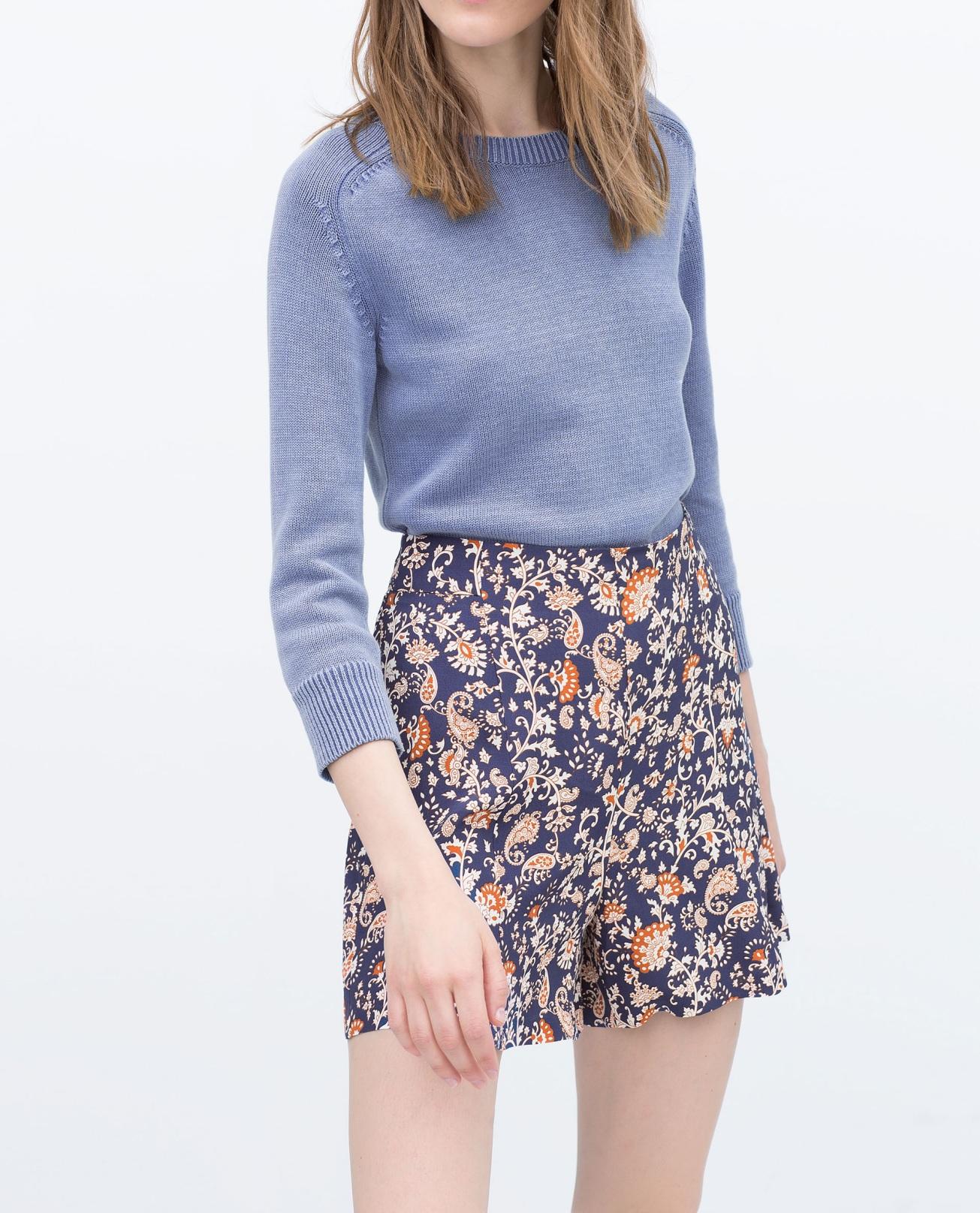 Printed Shorts, ZARA $49