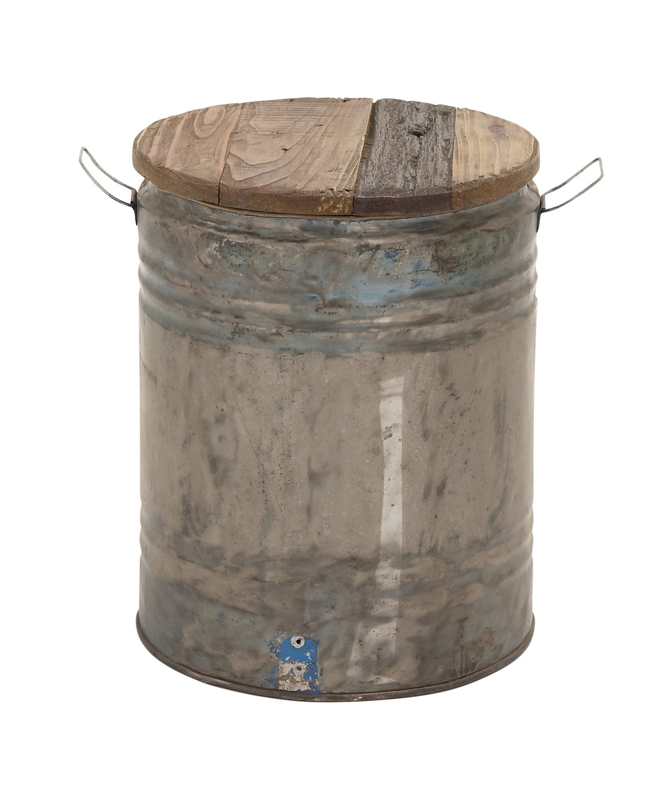Woodland Imports Very Artistic Metal Wood Drum Stool, Wayfair $124.99