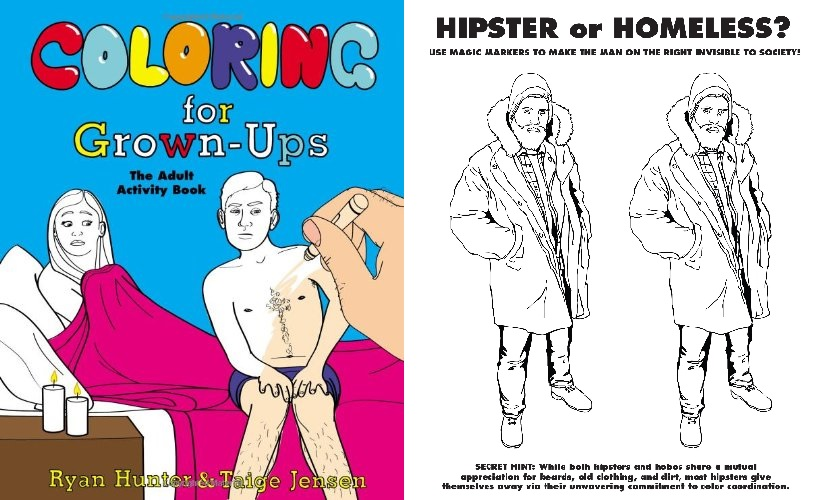Coloring for Grown-Ups by Ryan Hunter, Amazon.ca