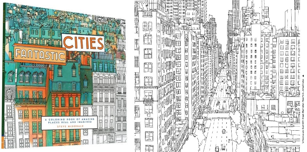 Fantastic Cities: A Coloring Book Of Amazing Places Real And Imagined Illustrator Steve Mcdonald, Chapters/Indigo