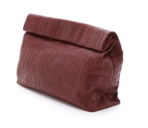 Marie Turnor Accessories Croc Embossed Lunch Clutch, Shopbop $416.55