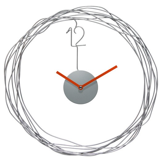 "Wire Transfer 14"" Wall Clock by Infinity Instruments, All Modern $24.99"