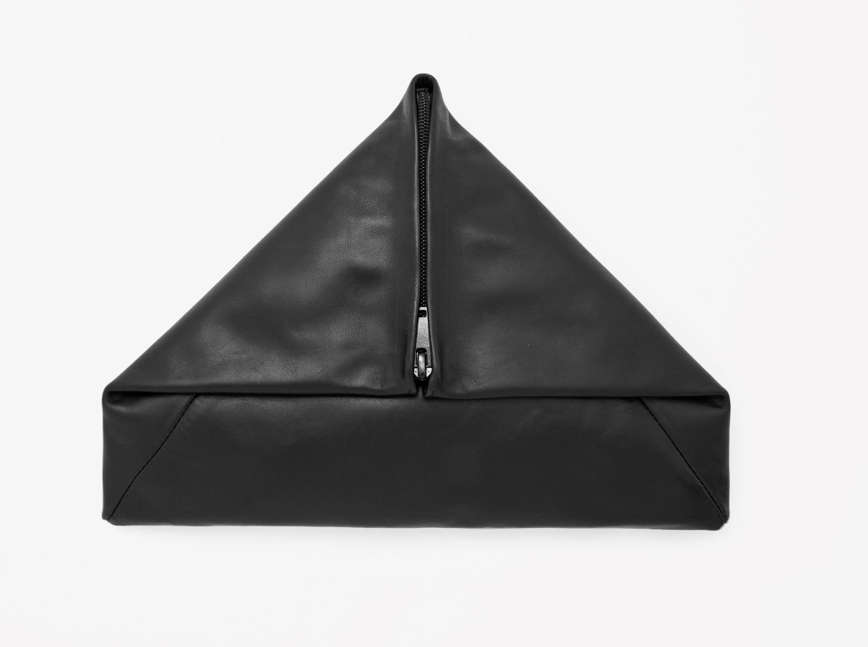 Triangle Leather Clutch, COS Stores $60