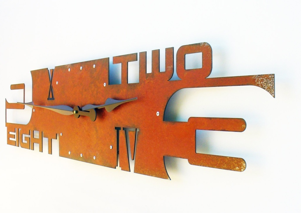 Outnumbered V Modern Wall Clock by All15Designs, Etsy $200.66