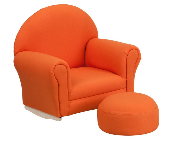 Flash Furniture Kids Orange Fabric Rocker Chair and Footrest, HOUZZ $102.38